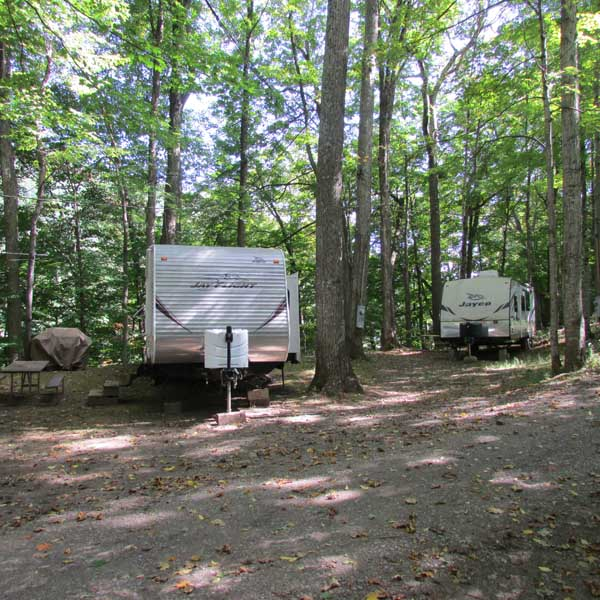 campsite with electricity