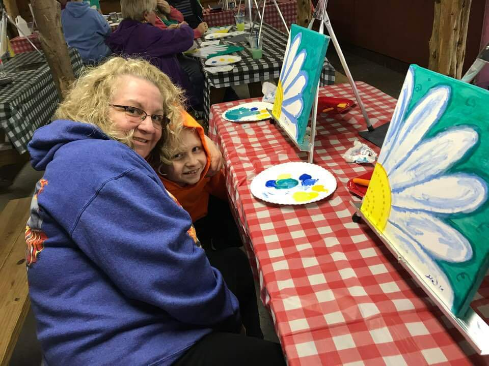 Photo of Mom and Child Painting